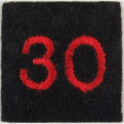 Red Cross Detachment Number 30 Red On Navy Blue  Embroidered Ambulance Insignia