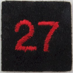 Red Cross Detachment Number 27 Red On Navy Blue  Embroidered Ambulance Insignia