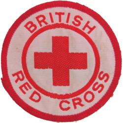 British Red Cross Arm Badge  Woven Ambulance Insignia