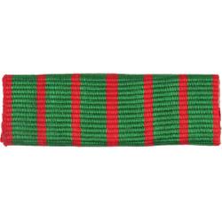 Leeds Rifles Company Flash - Croix De Guerre Ribbon Stiffened  Woven Regimental cloth arm badge