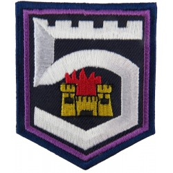 5th Infantry Bn (Burning Castle In 5 On Blue Shield) Irish Defence Forces  Embroidered Regimental cloth arm badge