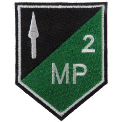 2 Field Coy Military Police (Spear & 2 MP On Shield) Irish Defence Forces  Embroidered Regimental cloth arm badge