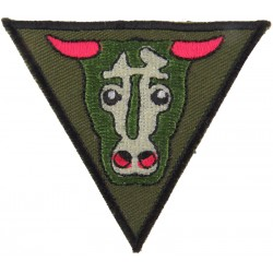 Royal Engineers: 32 Armoured Engr Regt (Bull's Head) On Olive  Embroidered Regimental cloth arm badge