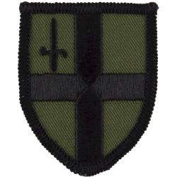 City Of London Flash - B & C Coys The London Regt Black On Olive  Embroidered Regimental cloth arm badge