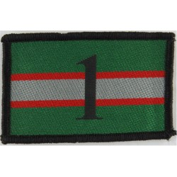 Intelligence Corps - 1st Military Intelligence Bn 1 On Corps Colours  Embroidered Regimental cloth arm badge