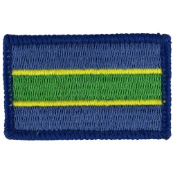Queen's Royal Hussars (Queen's Own And Royal Irish) Blue/Yellow/Green  Embroidered Regimental cloth arm badge