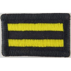 Queen's Own Yeomanry Navy/ Yellow Stripes  Embroidered Regimental cloth arm badge