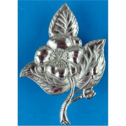 Queen's Own Warwickshire & Worcestershire Yeomanry NCO's Arm Badge  Chrome-plated Regimental metal arm badge