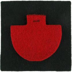 Duke Of Cornwall's Light Infantry - Red Insert On Rifle Green Square  Felt Badge Backing