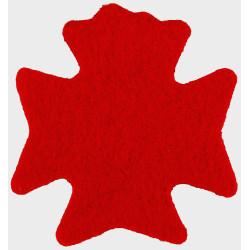 Light Dragoons (formed From 13/18 RH & 15/19 KRH) Red Badge-Shape  Felt Badge Backing