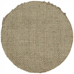 Helmet Plate Centre Backcloth - South Staffordshire 45mm Brown Disc  Holland Badge Backing
