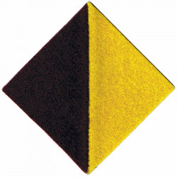 Middlesex Regiment Maroon / Yellow  Felt Badge Backing