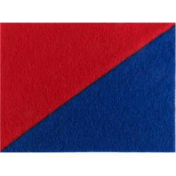 Royal Lincolnshire Regiment Red / Blue Rectangle  Felt Badge Backing