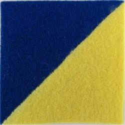 14th/20th King's Hussars - Senior Tank Crewman Blue/Primrose Square  Felt Badge Backing