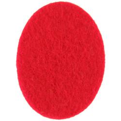Royal Devon Yeomanry Red Oval  Felt Badge Backing