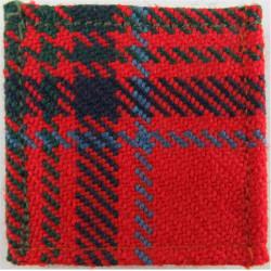 Queen's Gurkha Signals Grant Tartan Square  Tartan Badge Backing