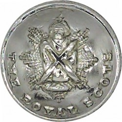 Royal Scots (The Royal Regiment) - Pipers 19mm Silver Colour  Anodised Staybrite military uniform button