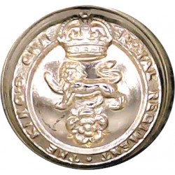 Gurkha Transport Regiment - 1965-1992 14mm - Black with Queen Elizabeth's Crown. Anodised Staybrite military uniform button