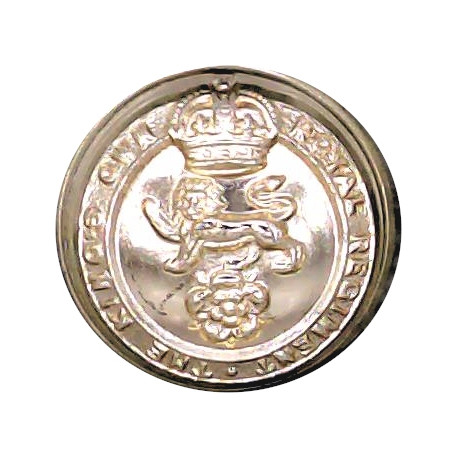 King's Own Royal Regiment (Lancaster) 18mm - Gold Colour with King's Crown. Anodised Staybrite military uniform button