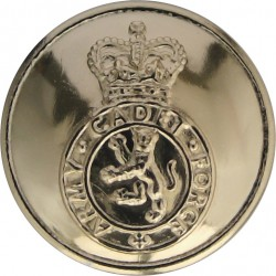 Army Cadet Force Band 19mm - Gold Colour with Queen Elizabeth's Crown. Anodised Staybrite military uniform button
