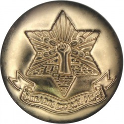 Barbados Defence Force 19mm - Gold Colour  Anodised Staybrite military uniform button