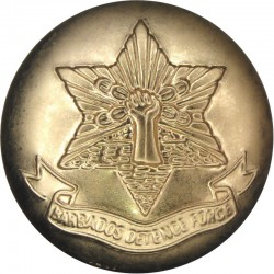 Barbados Defence Force 25mm - Gold Colour  Anodised Staybrite military uniform button