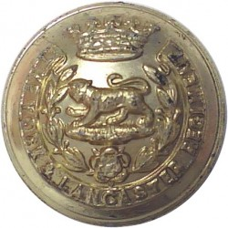 80 (Cheshire Yeomanry) Signal Sqn 33 Signal Regt (V) 26mm - Gold Colour Anodised Staybrite military uniform button