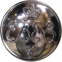 Honourable Artillery Company (Infantry) 26.5mm Silver Colour with Queen Elizabeth's Crown. Anodised Staybrite military uniform b
