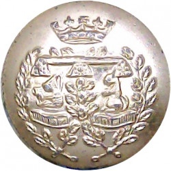 Northumberland Hussars 19.5mm Silver Colour with Queen Elizabeth's Crown. Anodised Staybrite military uniform button