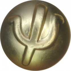 Australian Army Psychology Corps 25.5mm - Gold Colour with Queen Elizabeth's Crown. Anodised Staybrite military uniform button