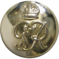 Royal Military Police - GviR 19.5mm - Gold Colour with King's Crown. Anodised Staybrite military uniform button