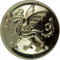 Welsh Brigade (Dragon) 25.5mm - Gold Colour  Anodised Staybrite military uniform button