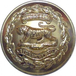 Royal Leicestershire Regiment - 1952-1960 19.5mm - Gold Colour  Anodised Staybrite military uniform button