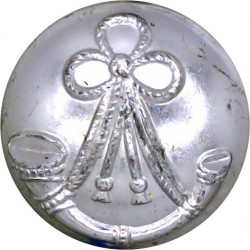 Light Infantry Regiments - 1946-1959 25mm Silver Colour  Anodised Staybrite military uniform button
