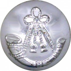 Light Infantry Regiments - 1946-1959 19mm Silver Colour  Anodised Staybrite military uniform button