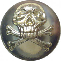17th/21st Lancers (also Queen's Royal Lancers) 18mm - Gold Colour  Anodised Staybrite military uniform button