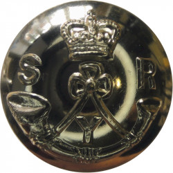 Sherwood Rangers Yeomanry 26mm - Gold Colour with Queen Elizabeth's Crown. Anodised Staybrite military uniform button