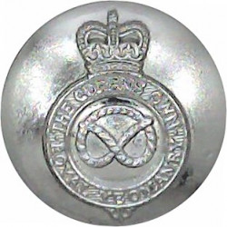 851st (Westmoreland & Cumberland Yeomanry) Bty RA 25.5mm Silver Colour Queen's Crown. Anodised Staybrite military uniform button