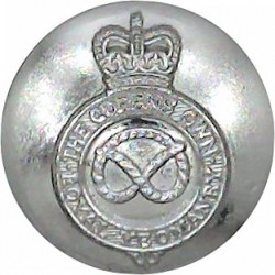 Staffordshire Yeomanry 17mm Silver Colour with Queen Elizabeth's Crown. Anodised Staybrite military uniform button