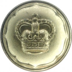 Ayrshire (Earl of Carrick's Own) Yeomanry 14mm - Gold Colour with Queen Elizabeth's Crown. Anodised Staybrite military uniform b