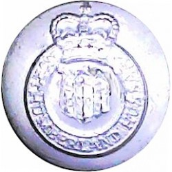 Northumberland Hussars 14mm Silver Colour with Queen Elizabeth's Crown. Anodised Staybrite military uniform button