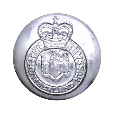 Yorkshire Volunteers 19.5mm - Gold Colour with Queen Elizabeth's Crown. Anodised Staybrite military uniform button