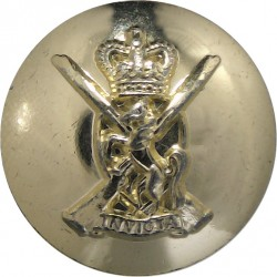 Royal Army Ordnance Corps 19mm - Gold Colour with King's Crown. Anodised Staybrite military uniform button
