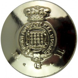 Royal Gloucestershire Hussars 25mm - Gold Colour  Anodised Staybrite military uniform button