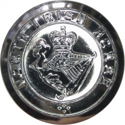 North Irish Horse 22.5mm Silver Colour with Queen Elizabeth's Crown. Anodised Staybrite military uniform button