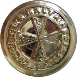 King's Own Malta Regiment 14mm - Gold Colour  Anodised Staybrite military uniform button