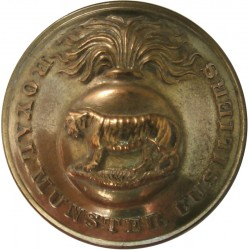 Royal Munster Fusiliers 25.5mm - 1881-1922  Brass Military uniform button