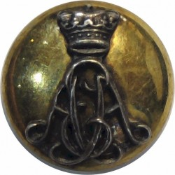 Wiltshire Regiment (Duke Of Edinburgh's) AEA Cipher 13.5mm Mounted Dome  Silver-plate and gilt Military uniform button