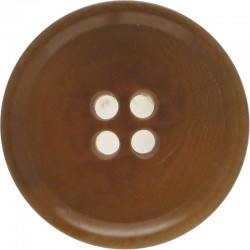 4-Hole Button For Despatch Rider's Leather Jerkin 29mm - Brown  Horn Military uniform button