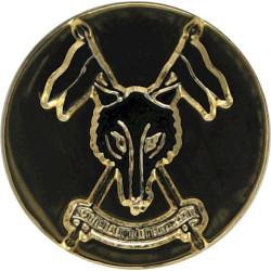 Scottish And North Irish Yeomanry - Waistcoat Button 14mm Flat Indented  Gilt Military uniform button